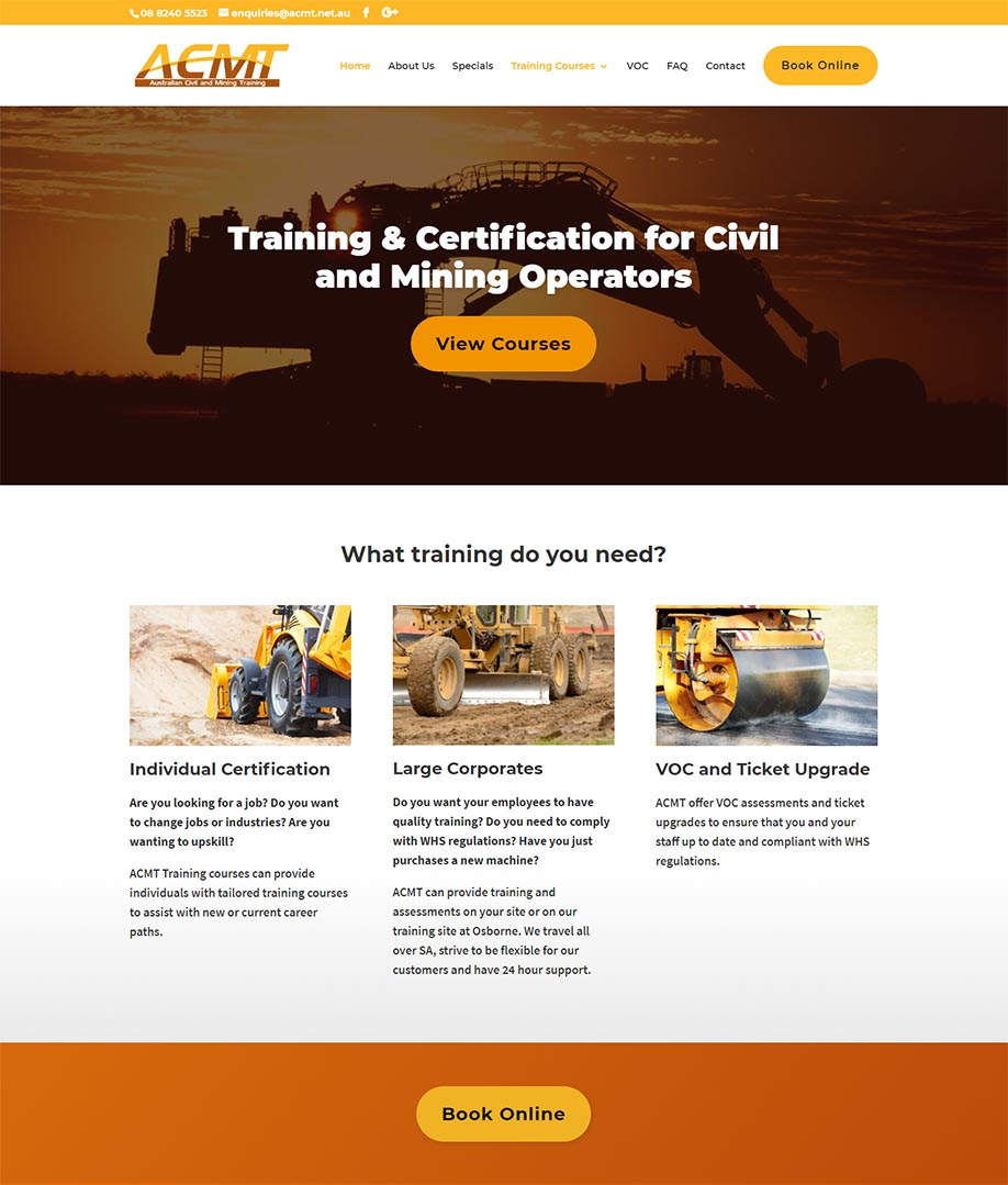 Australian Civil and Mining Training Website