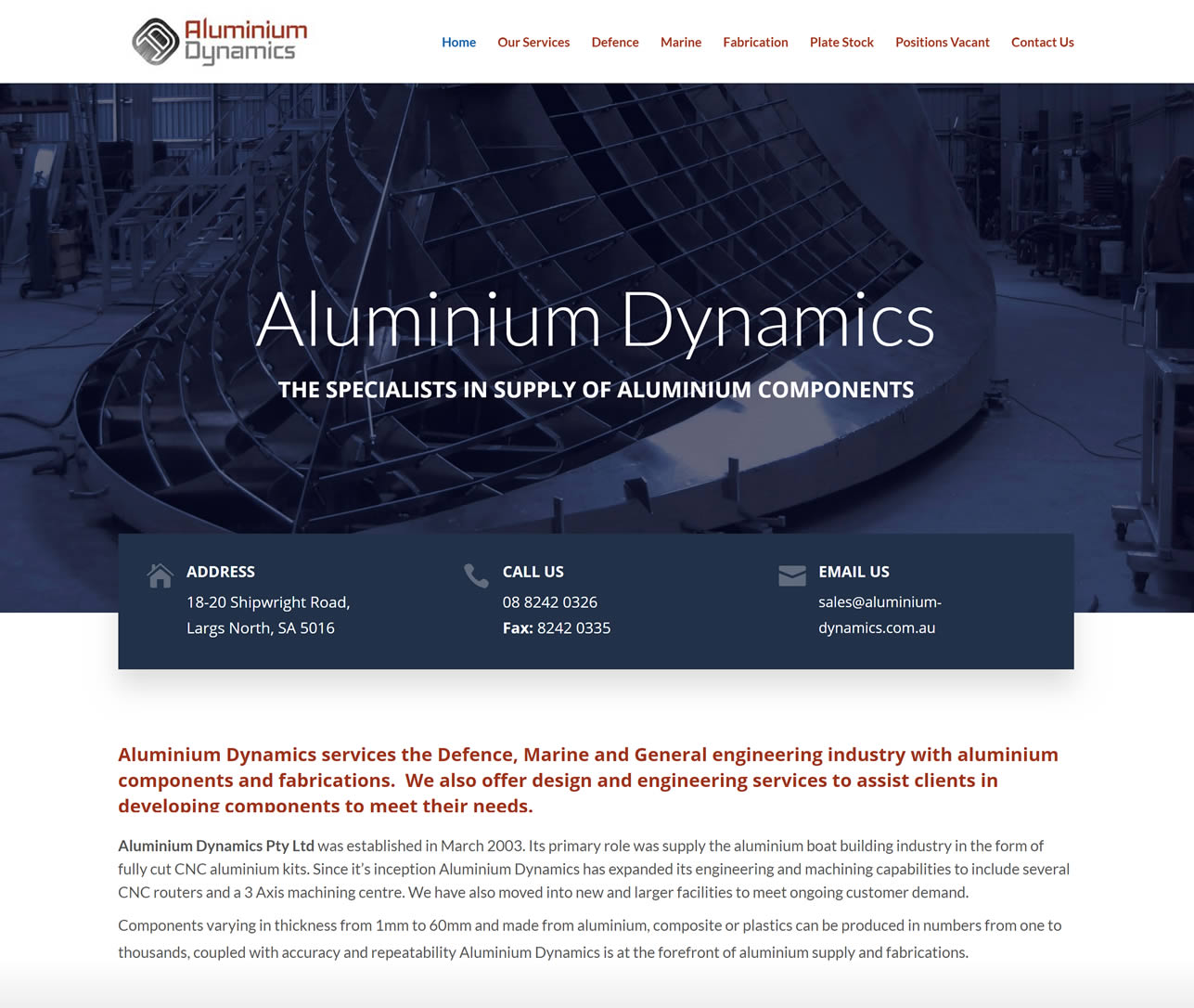 Aluminium Dynamics Website