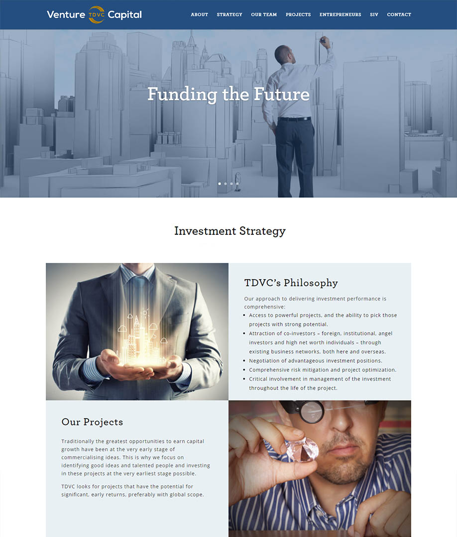 TDVC Venture Capital Fund Website