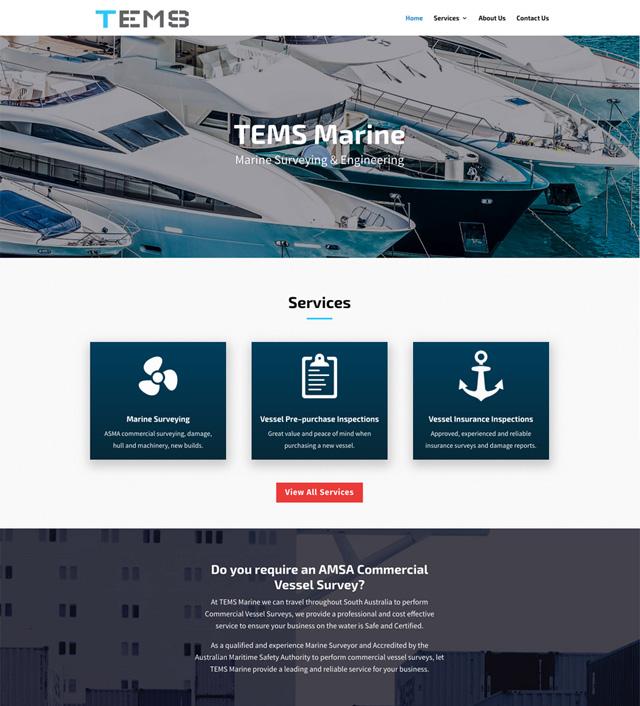 TEMS Marine Website Design