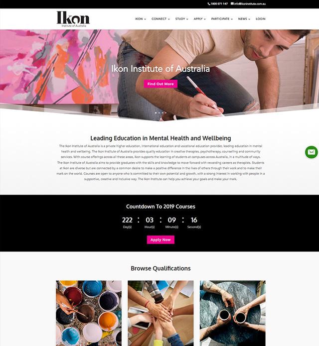 Ikon Institute Website Design
