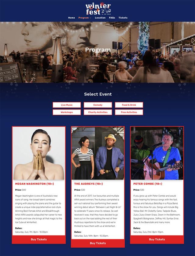 Winterfest Website Design