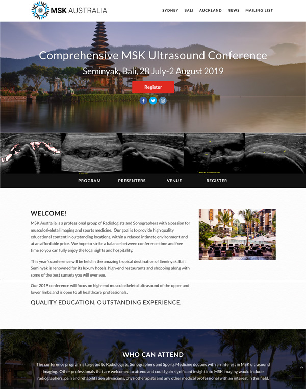 MSK Australia Website Design