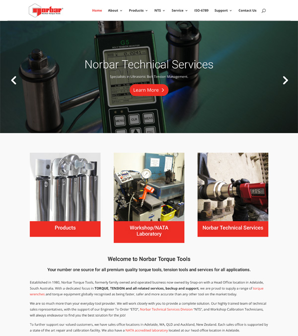 Norbar Australia Website Design